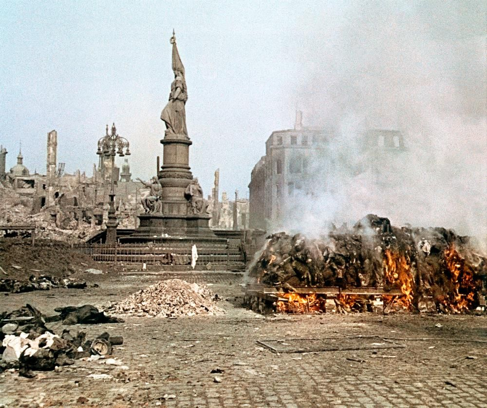 Dresden was heavily bombed by Allies