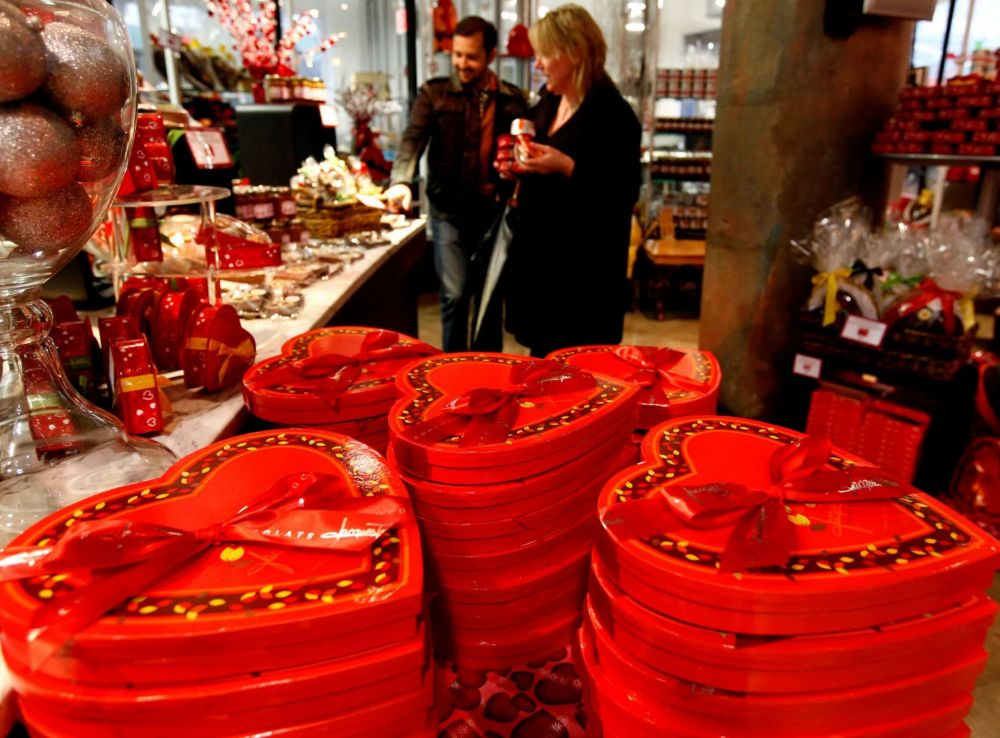 Valentine gift-giving hadn't become a market until the 1840s