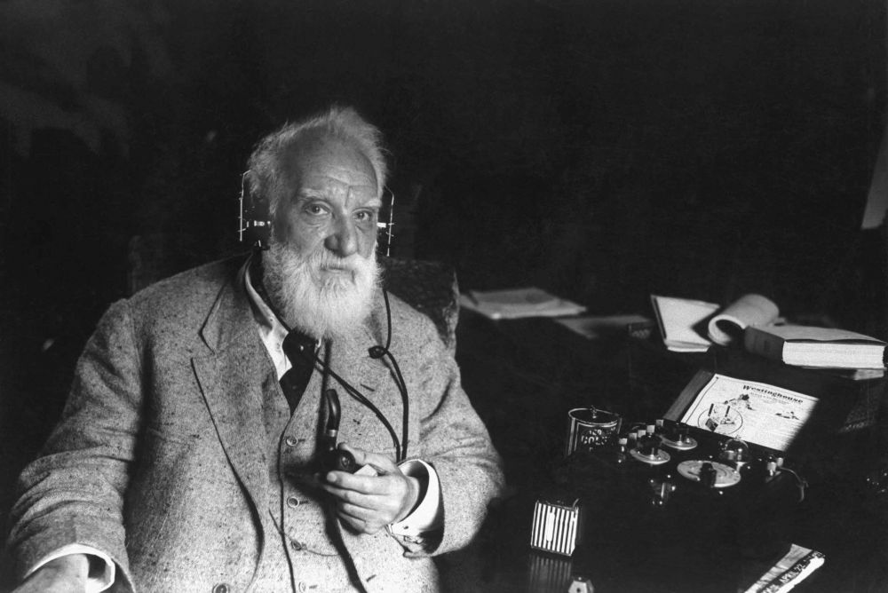 Alexander Graham Bell applied for telephone patent