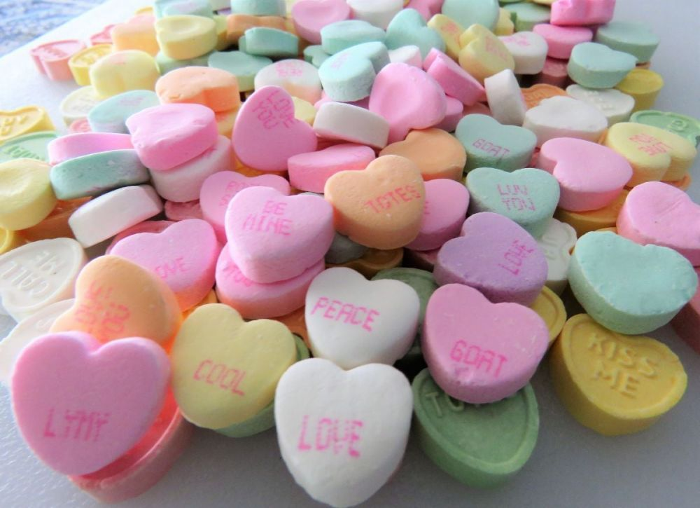 Sweetheart candies were initially Lozenges