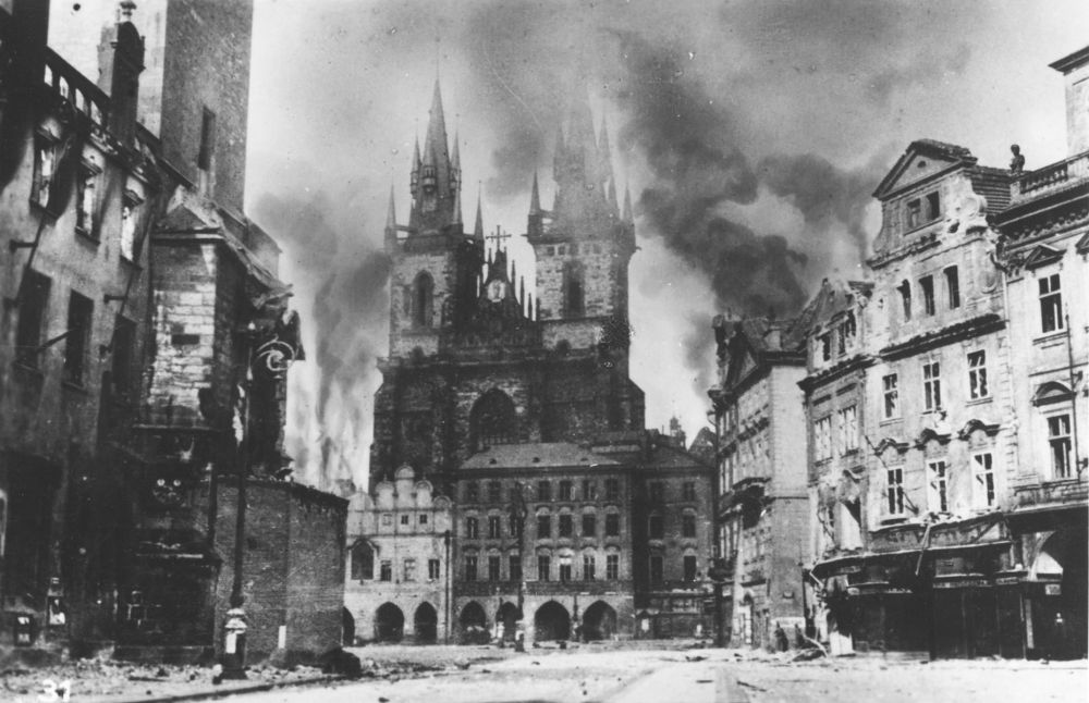 Prague was mistakenly bombed