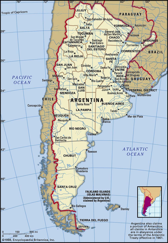 Argentina (2.8 million km2)
