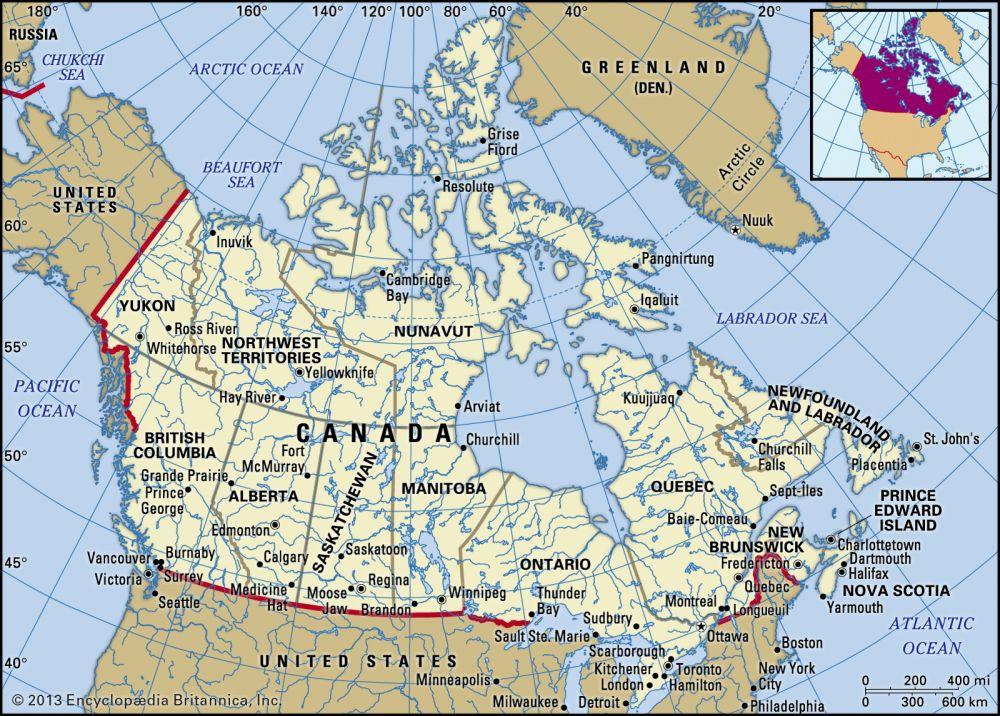 Canada (9.9 million km2)