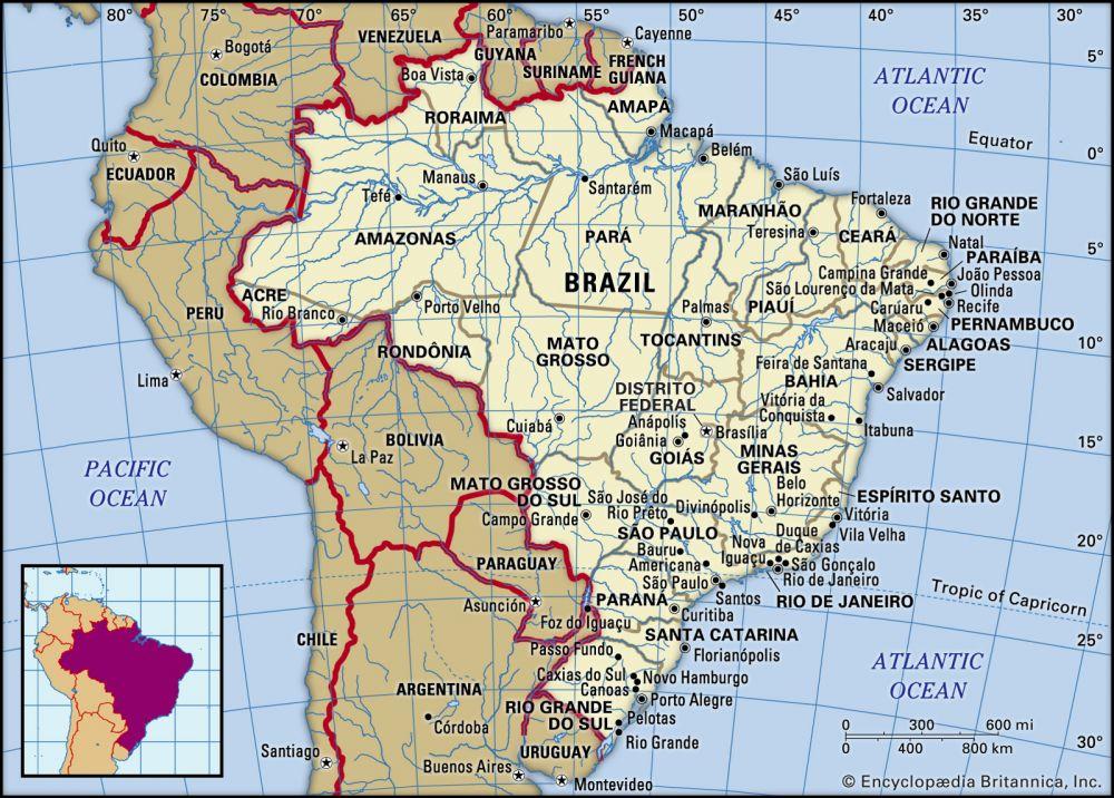 Brazil (8.5 million km2)