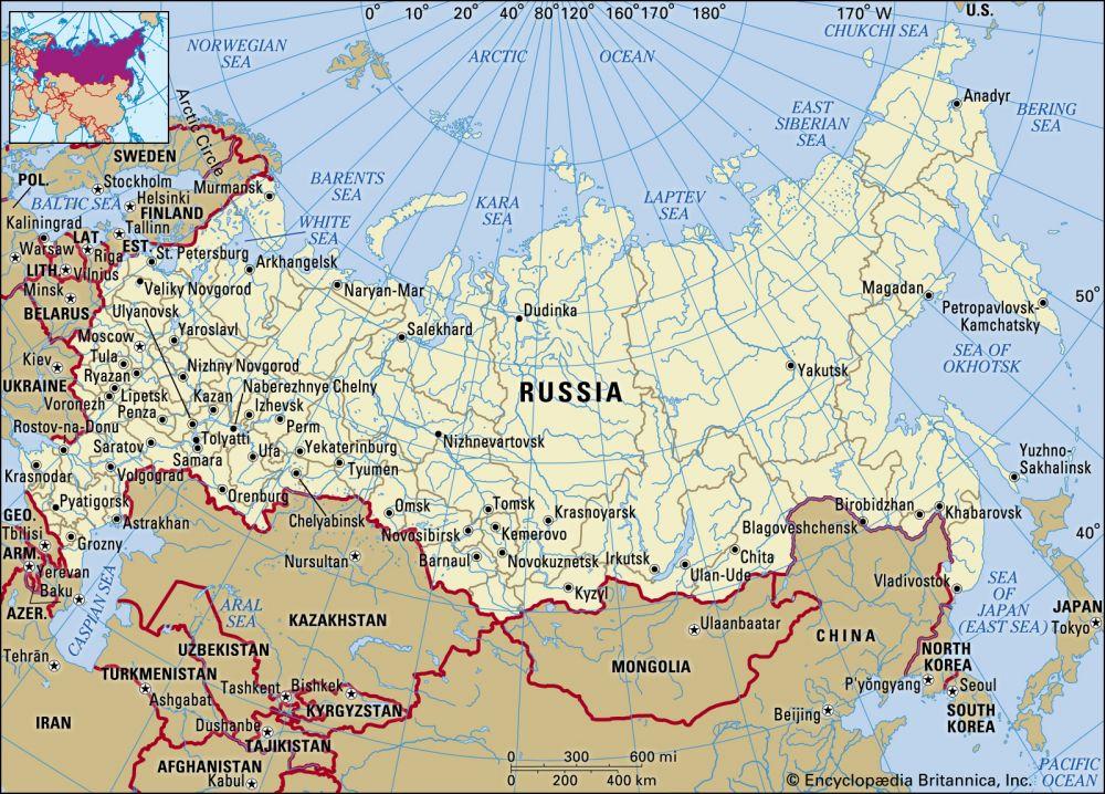 Russia (17 million km2)