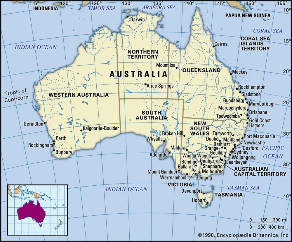 Australia (7.7 million km2)